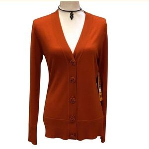 Tory Burch Cardigan w/monogram buttons